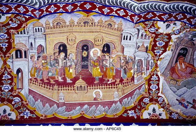 amritsar-india-baba-atol-tower-fresco-guru-nanak-sikh-ap6c45